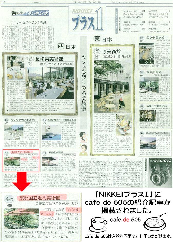 20130427 nikkei プラス1 cafe de 505掲載2.jpg